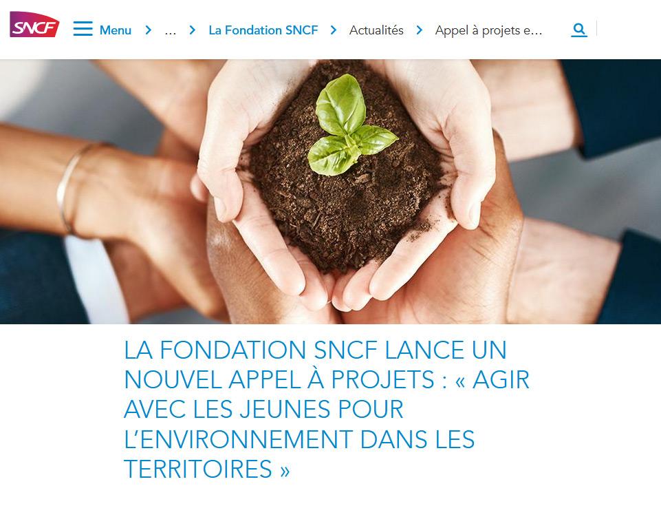 La Fondation SNCF lance un nouvel appel à projets : « Agir avec les jeunes pour l'environnement dans les territoires »